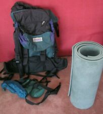 Kathmandu Long Haul Hiking Travel Backpack Rucksack Large green purple black