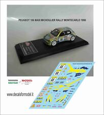 DECAL 1:43  PEUGEOT 106 MAXI MICHOULIER RALLY MONTECARLO 98