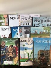 11 NEW YORKER MAGAZINES 2018 LOT Kaepernick Chast Trump covers Chabon Oates