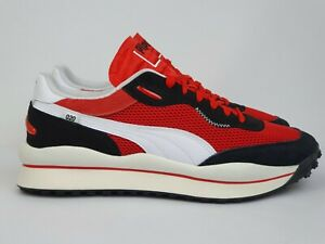 """Puma Style Rider Stream On """"High Risk Red"""" New (12US) Limited Retro disc Casual"""