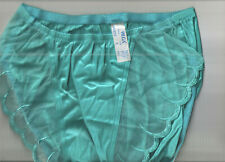 Vintage Olga 40022 Scalloped Edge Panties Size S in Turquoise * No Tag