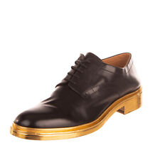 RRP €710 MAISON MARGIELA Leather Derby Shoes EU42 UK8 US9 Metallic Made in Italy