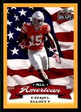 2016 Leaf Draft Ezekiel Elliott All American RC Gold Dallas Cowboys