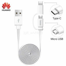 Original Huawei 2 in1 Micro USB Type-C Cable Fast Charging Cord For P20 lite P9