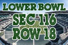 TWO (2) Lower SEC 116 Philadelphia Eagles vs Pittsburgh Steelers Tickets 8/9/18