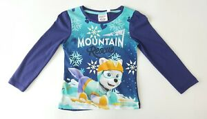 Girls Paw Patrol Mountain Rescue Long Sleeve T-shirt Size 6 Years Graphic BNWT
