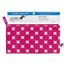 Yoobi - 1-Zipper Pencil Case Pink Circles