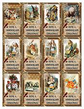 ALICE IN WONDERLAND CHRISTMAS (28) SCRAPBOOK CARD EMBELLISHMENTS HANG/GIFT TAG