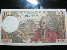 France 10 Francs Banknote 1972 issue in the VF condition.
