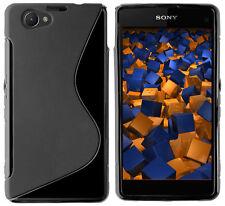 mumbi Hülle f. Sony Xperia Z1 Compact Schutzhülle S-TPU Case Tasche Schwarz