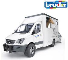 Bruder Toys 02533 Mercedes Sprinter Horse Transporter Truck Horse Box 1:16