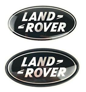 Range Rover Sport Supercharged Tailgate + Grille Emblem Black Oval Logo Badges