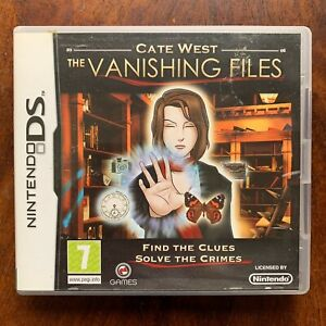 Cate West The Vanishing Files Nintendo DS Detective Game