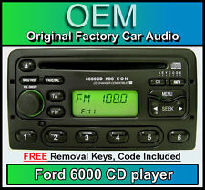Ford Escort CD player, Ford 6000 car stereo with radio removal keys and code