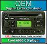 Ford Focus MK2 C-Max Fiesta Transit Radio Reproductor de CD de 6000 con código 2003-2008