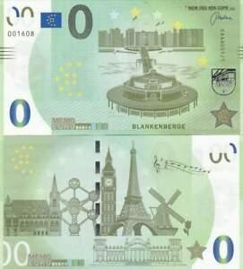 Biljet billet zero 0 Euro Memo - Blankenberge (036)