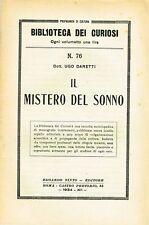 Biblioteca dei curiosi N.76 - Il mistero del sonno (1934)