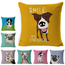Hippie Pug Dog Cushion Cover Animal Cartoon Pillow Case For Kids Cute Bulldog