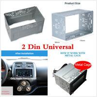 2DIN Metal Fascia Mounting Cage Dash Kit for Car Radio DVD Stereo Installation