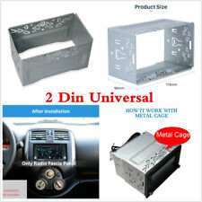 2DIN Metal Fascia Mounting Cage Dash Kit for Car Radio DVD Stereo Installation