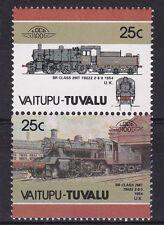 TUVALU VAITUPU LOCO 100 BR CLASS 2MT No 78022 LOCOMOTIVE UK STAMPS MNH