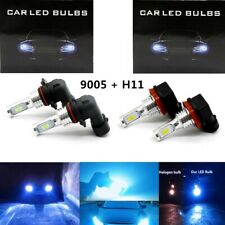 Combo 100W 9005 H11 CSP LED Headlights Kit High Low Beam 8000K LED Super Bright