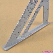 "Alloy Speed Square Protractor Miter Framing Measurement Ruler For Carpenter 7"" J"