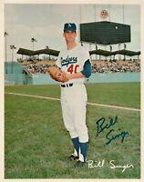 Bill Singer Signed 8X10 Photo Autograph Los Angeles Dodgers Team Card Auto COA