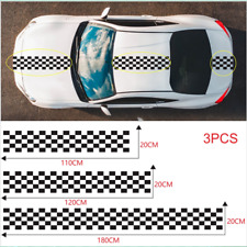 3x Car Body Decor Accessories Long Striped Decal Stickers Racing Sports Style