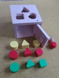 Baby Steckspiel Holz Walter Motorik Farben Formen Würfel Spielzeug