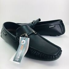 Akademiks Mens Size 9 Black Driving Loafers Casual Slip On Shoes New