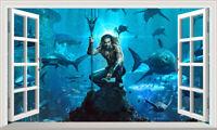 Aquaman 3D Magic Window Wall Art Self Adhesive Vinyl Poster V3*