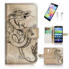 Dragon Mobile Phone Flip Cases for Samsung