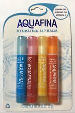 Aquafina Hydrating Lip Balm 4 Pack Jojoba & Almond Oil Pure Original & Flavors