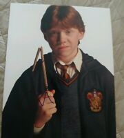 RUPERT GRINT SIGNED 8X10 PHOTO HARRY POTTER RADCLIFFE W/COA+PROOF RARE WOW