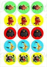 Edible Cupcake Toppers ANGRY BIRDS pre cut - Highest Australian Quality