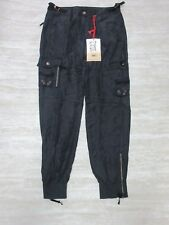 NEW Da-Nang Women's Casual Pants Ankle Zipper Pockets BLACK HAB5221 Size: LARGE