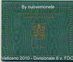 VATICAN VATICANO DIVISIONALE 2010 OFFICIALE BU BENOIT XVI 8 pièces