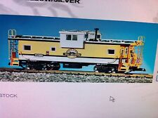 USA Trains 12105 G Scale Denver Rio Grande Extended Vision Caboose yellow/silver
