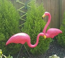 2X  Exotic Flamingo Garden Outdoor Decor Pink Birds Stake Patio Plastic