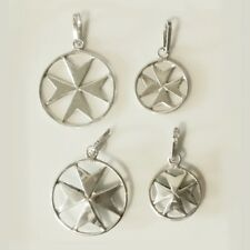 Sterling Silver Maltese Cross pendants handmade Malta with Certificate 4 designs
