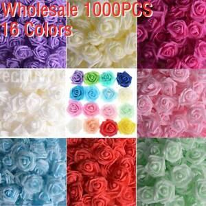 Wholesale 1000PCS Foam Rose Flowers Bride Bouquet Home Wedding Home Decoration