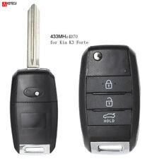 Flip Folding Remote Key Fob 3 Button 433MHz 4D70 for Kia K3 Forte 2013 2014 2015