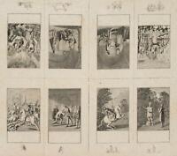 CHODOWIECKI (1726-1801). 1-8. Blatt zur Geschichte der Bartholomäusnacht, Bogen
