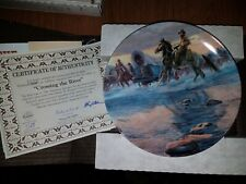 Bradford Exchange Collectors Plate in Box - American Journey: Crossing The R P16