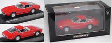 Minichamps 400123321 Maserati Ghibli 5000 SS Coupé (Tipo AM 115) rosso, 1:43