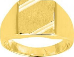 Signet Ring Circumference Finger of Your Choice Gold Plated Yellow 18 Carat