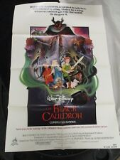Vintage Movie Poster 1 sh Walt Disney The Black Cauldron 1985