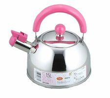 Kettle Stainless Steel Japan Teakettle Whistle Whistling Pink 1.5L CR5283