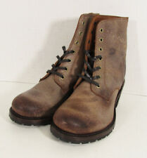 $398 Frye Womens Sabrina 6G Lace Up Ankle Boot Shoes, Chocolate, US 8